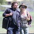 Exclusif - Jennie Garth et son nouveau compagnon Michael Shimbo à Los Angeles le 8 septembre 2013