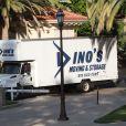 Un camion de déménageurs était aperçu devant l'ex-villa de Khloe Kardashian et Lamar Odom, dans le quartier de Los Angeles. Le 28 août 2013.