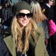 Teresa Palmer (enceinte) dans les rues de Park City, le 18 janvier 2014.