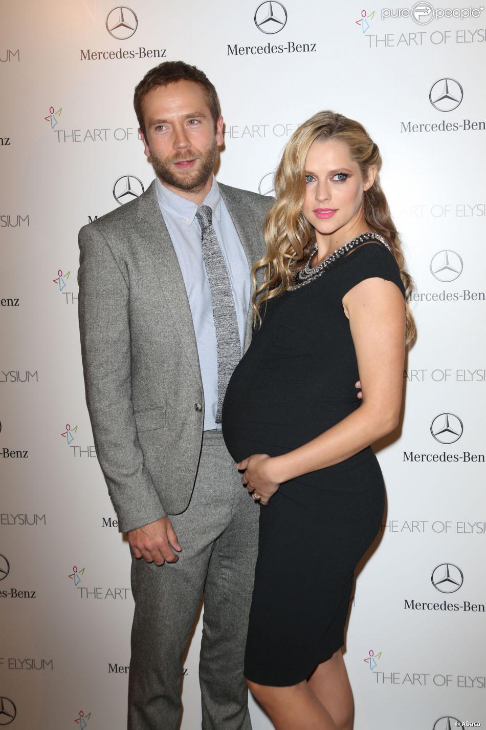 Mark Webber et sa femmeTeresa Palmer à Los Angeles, le 11 janvier 2014.