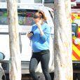 Olivia Wilde, enceinte, à Los Angeles après un cours de yoga le 18 février 2014