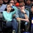 Olivia Wilde et Jason Sudeikis à un match des New York Knicks contre les Indiana Pacers à New York le 5 mai 2013