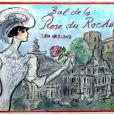 Carton d'invitation au Bal de la Rose 2013, par Karl Lagerfeld