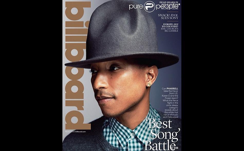 Pharrell Williams en couverture de Billboard.
