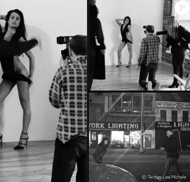 La sexy Lea Michele a dévoilé des clichés du shooting pour V Magazine, par Terry Richardson le 23 février 2014.