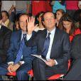 François Hollande devant Julie Gayet lors de sa convention d'investiture à Paris le 22 octobre 2011