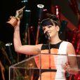 Lily Allen a été récompensée à la cérémonie des NME Awards, à Londres, le 26 février 2014.