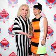 Debbie Harry et Lily Allen à la cérémonie des NME Awards, à Londres, le 26 février 2014.