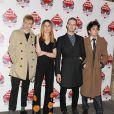 Theo Ellis, Ellie Rowsell, Joel Amey et Joff Oddie à la cérémonie des NME Awards, à Londres, le 26 février 2014.