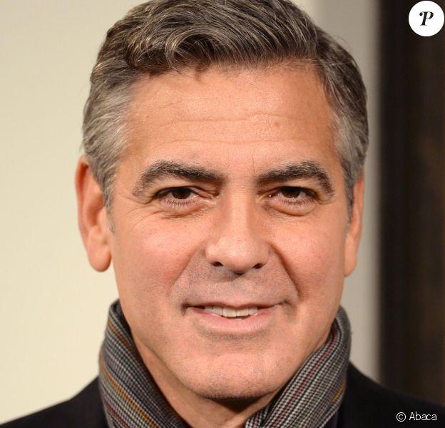 George Clooney à Londres le 11 février 2014.