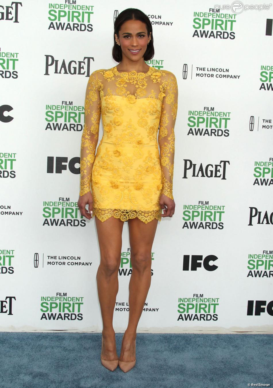 Paula Patton, sublime lors de son arrivée à la soirée des Film Independent Spirits Awards à Santa Monica le 01 mars 2014