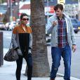 Ashton Kutcher et sa fiancée Mila Kunis vont au restaurant à Studio City, le 3 mars 2014
