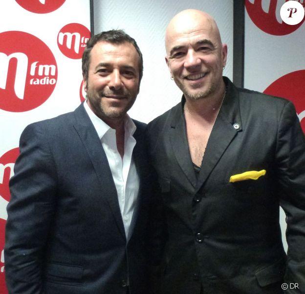 """Bernard Montiel recevait Pascal Obispo dans son émission """"M comme Montiel"""" diffusée sur MFM, le 8 mars 2014."""