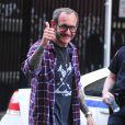Terry Richardson, sur un shooting photo à New York. Juin 2013.