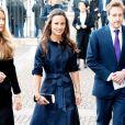 Pippa Middleton se rend à une cérémonie en hommage à Sir David Frost (décédé l'année dernière) donnée à Londres, le 13 mars 2014.