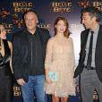 """Christophe Gans, Léa Seydoux et Vincent Cassel à l'avant-première de """"La Belle et la Bête"""" à Paris le 9 février 2014."""