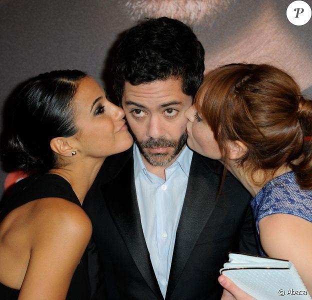 Emmanuelle Chriqui, Manu Payet et Anaïs Demoustier lors de l'avant-première du film Situation amoureuse : C'est compliqué à Paris le 17 mars 2014