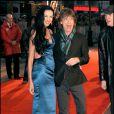 L'Wren Scott et Mick Jagger à Londres, le 2 avril 2008.