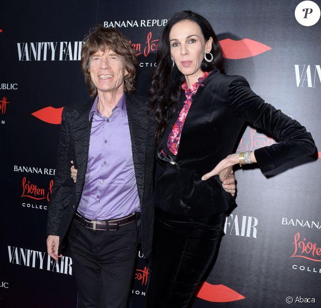 Mick Jagger and L'Wren Scott à Los Angeles, le 19 novembre 2013.