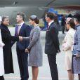 Le prince Frederik de Danemark, la princesse Mary, le prince Joachim et la princesse Marie étaient présents le 17 mars 2014 à l'aéroport de Copenhague pour accueillir le président turc Abdullah Gül, en visite officielle avec son épouse Hayrünnisa.