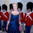 Helle Thorning-Schmidt lors de la réception donnée le 12 mars 2014 au palais de Christiansborg pour les membres du gouvernement et parlementaires danois.