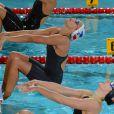 Laure Manaudou lors des championnats d'Europe de natation à Chartres. Novembre 2012.
