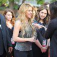 Shakira sur le tapis rouge de l'événement iHeartRadio célébrant la sortie de son nouvel album. Burbank, Los Angeles, le 24 mars 2014.