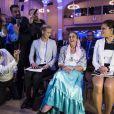 Victoria de Suède lors du lancement du Livre blanc sur les abus et les violations des droits des Romes dans les années 1940, au centre de conférences Norra Latin, le 25 mars 2014 à Stockholm