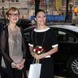 La princesse Victoria de Suède lors de la Journée du cerveau le 26 mars 2014 à Stockholm