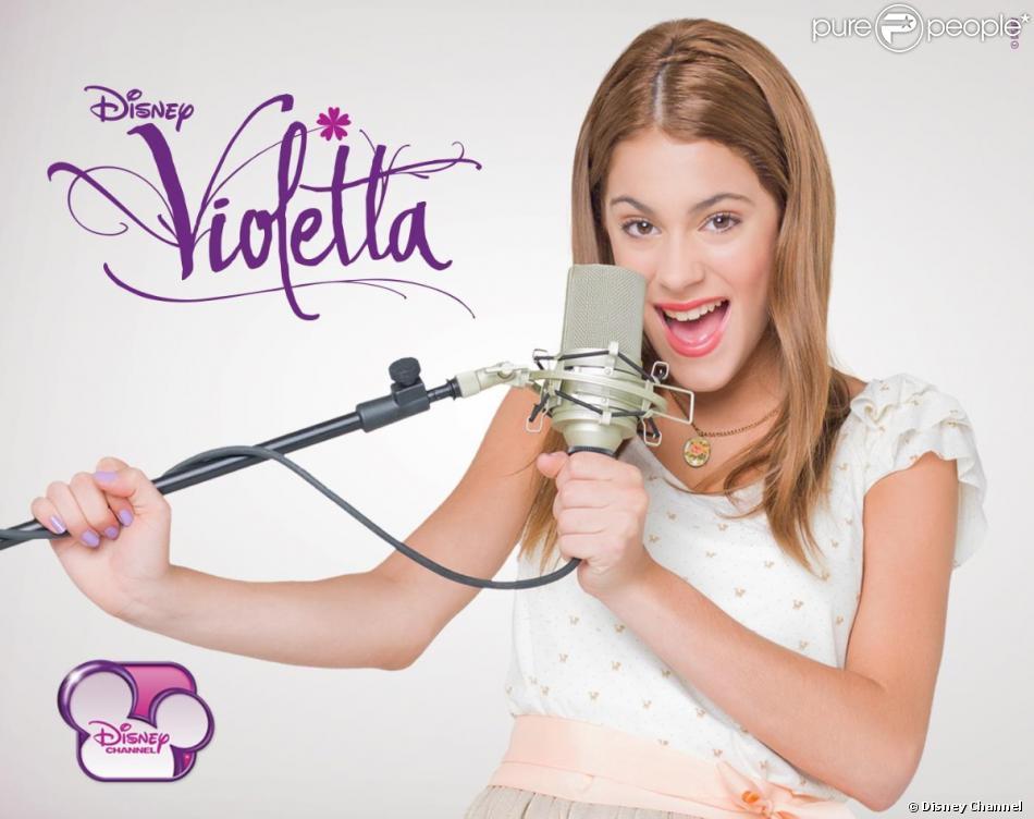 Violetta , la série musicale, actuellement diffusée sur Disney Channel.