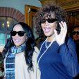 Whitney Houston et sa fille Bobbi Kristina Brown à Los Angeles, le 9 février 2011.