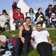 """Laure Manaudou et son frère Florent Manaudou lors du """"GPA Jump Festival"""" à Cagnes-sur-Mer, le 29 mars 2014"""