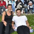 """Laure Manaudou avec son frère Florent Manaudou lors du """"GPA Jump Festival"""" à Cagnes-sur-Mer, le 29 mars 2014"""