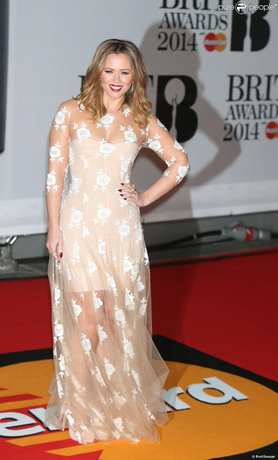 """Kimberley Walsh à la soirée des """"Brit Awards 2014"""" en partenariat avec MasterCard à Londres, le 19 février 2014."""