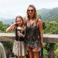 Le top britannique Kate Moss et sa fille Lila ont joué les parfaites touristes à Rio le 3 avril 2014