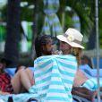 - Exclusif - La divine Heidi Klum passe ses vacances avec ses enfants à Paradise Island aux Bahamas le 26 mars 2014.
