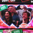 Nancy Shevell et Paul McCartney échangent un baiser lors d'un match de basket à Los Angeles, le 6 avril 2014. Lorsque la kiss cam se pose sur vous, c'est la règle, il faut s'embrasser !