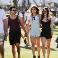Joe Jonas et Blanda Eggenschwiler lors du 1er jour du Festival de Coachella à Indio, le 11 avril 2014.
