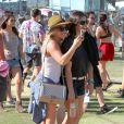 Hilary Duff lors du 1er jour du Festival de Coachella à Indio, le 11 avril 2014.