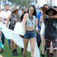 Kylie Jenner, Selena Gomez, Kendall Jenner lors du 1er jour du Festival de Coachella à Indio, le 11 avril 2014.