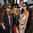 Fergie avec Jasmine Waltz lors du 1er jour du Festival de Coachella à Indio, le 11 avril 2014.