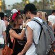 Sarah Hyland et Matt Prokop lors du 1er jour du Festival de Coachella à Indio, le 11 avril 2014.