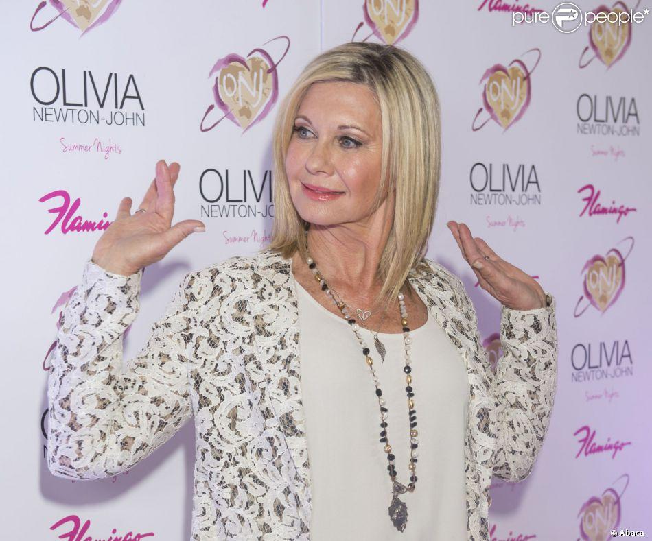 Olivia Newton-John pour le lancement de son show Summer Nights, à l'hôtel Flamingo de Las Vegas, le vendredi 11 avril 2014.