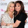 Olivia Newton-John et Marie Osmond pour le lancement de son show Summer Nights, à l'hôtel Flamingo de Las Vegas, le vendredi 11 avril 2014.