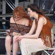 Lindsay Lohan et sa soeur Ali à Coachella, le 12 avril 2014.