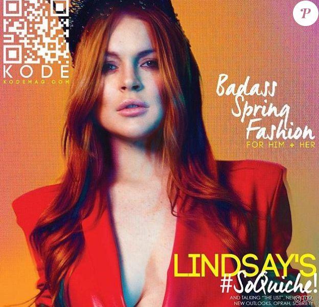 Lindsay Lohan en couverture de KODE magazine. Printemps 2014.