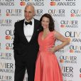 Mark Strong et Kristin Davis lors de la cérémonie des Laurence Olivier Awards 2014 au Royal Opera House à Londres, le 13 avril 2014.