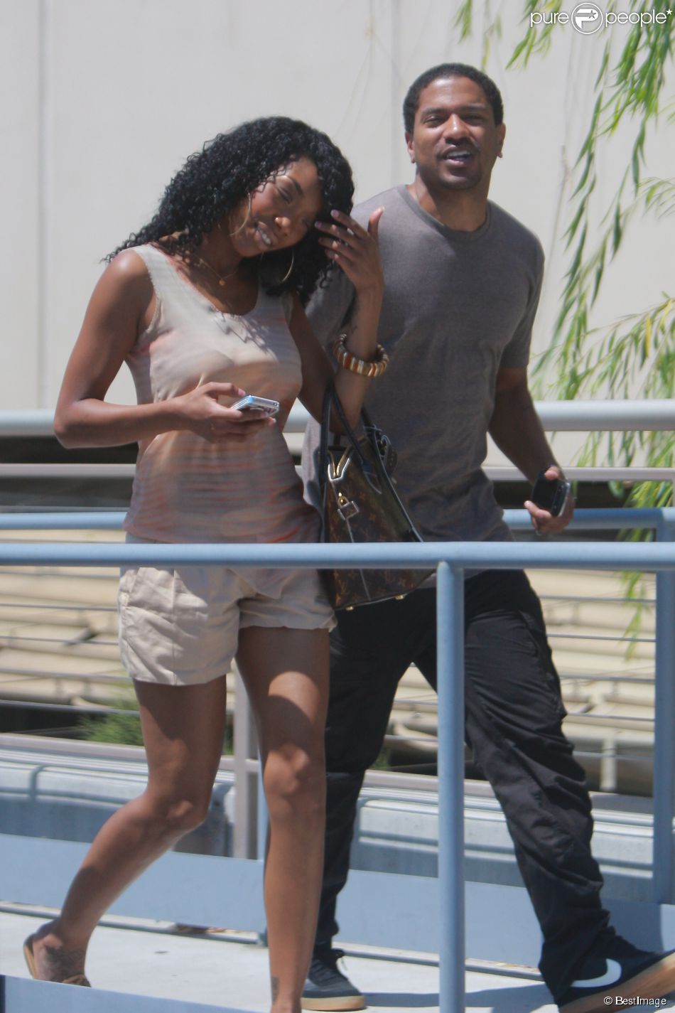 Exclusif - Brandy Norwood et Ryan Press dans les rues de Los Angeles, le 22 août 2012.