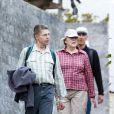Angela Merkel et son discret époux Joachim Sauer en balade du côté de Sant'Angelo, au sud de la petite île italienne d'Ischia, le 15 avril 2014.