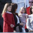 La famille royale de Danemark fêtait les 74 ans de la reine Margrethe II au château de Marselisborg, à Aarhus, le 16 avril 2014.
